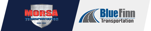 Morsa BlueFinn Transportation Logo